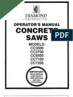 Diamond Products Core Cut Saw operator's manual
