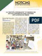 """LA """"ESCUELA ITINERANTE"""" UN MODELO DE ESCUELA DIFERENTE PARA ATENDER SITUACIONES DE CRISIS"""