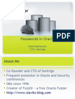 Oracle Passwords May 2009 Slavik