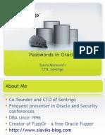 Oracle Passwords May 2009 Slavik