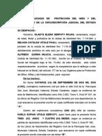 Separacion de Cuerpos Gladys Serfaty -Nelson Paoli. Proteccion Marzo 2010 (1)