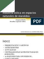 Industrialización eólica de los espacios naturales de Aiaraldea