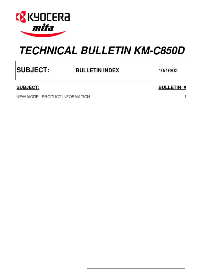 kyocera mita km c850 c850d service manual repair guide