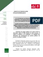 Comunicado del gabinete de comunicación del PSOE de Jaén