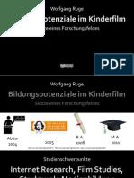 Bildungspotenziale im Kinderfilm - Skizze eines Forschungsfeldes