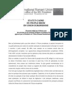 statut-cadre du peuple rrom dans l'Union européenne