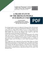 Frame-statute of Rromani people in European Union