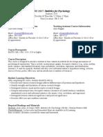 UT Dallas Syllabus for psy2317.0u1.11u taught by   ()