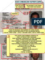 How to Read a Mexican Voter Card - Como saber si una IFE es falsa.