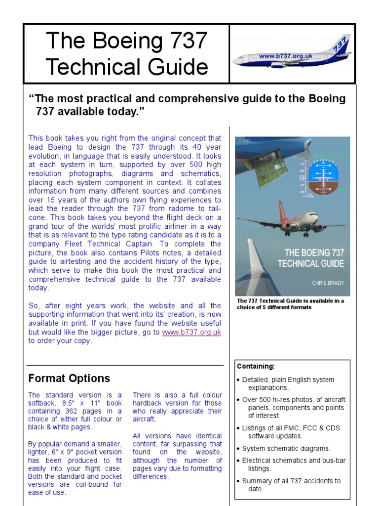 boeing 737 guide boeing aviation rh es scribd com Boeing 737 Next Generation the boeing 737 technical guide for sale