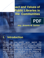 Impact & Values of Public Libraries
