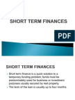 Short Term Finances