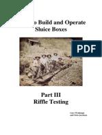 A Sluice Build PartIII