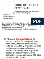 TRASTORNO DE DÉFICIT ATENCIONAL