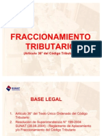 FRACCIONAMIENTO TRIBUTARIO
