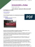Chile-y-la-reforma-universitaria Del 81 de Jaime Retamal