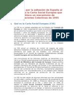 Manifiesto por la adhesión de España al Protocolo a la Carta Social Europea que establece un mecanismo de Reclamaciones Colectivas de 1995