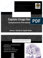Complicaciones Post Operatorias