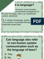 Language and Linguistics 2
