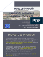 Conceptos Basicos de Proyectos VAN y TIR