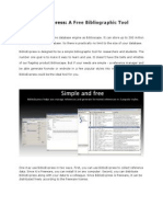 BiblioExpress-A Free Bibliographic Tool