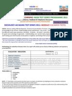 Sociology Interactive Ias Main Test Series Programme 2011 Module i3