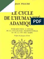 Jean Phaure - 1973 - Le cycle de l'humanité adamique