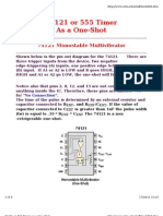 74121 or 555 Timer as a One-Shot