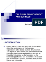 Cultural Environtment and Business