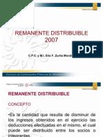 D.REMANENTE DISTRIBUIDO