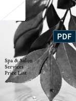 Spa Price List 10