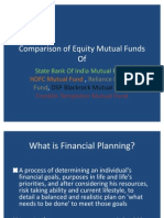 Comparison of Equity Mutual Funds