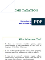 Lesson 5 - Exclusions and Deductions of Income Taxation