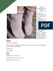 Toe Up Milanese Lace Socks