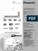 Panasonic DMR-EX 87 DVR User Manual