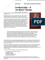 Communicative Musicality – A Cornerstone for Music Therapy - Nordic Journal of Music Therapy