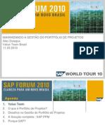 2010 - MAXIMIZANDO A GESTÃO DO PORTFÓLIO DE PROJETOS [SAP]