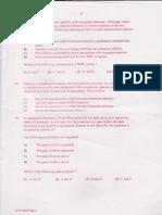 Csir-net June 2011 (Question Paper) Part c(II) Life Science