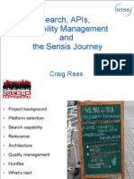 Search, APIs, capability management and the Sensis journey