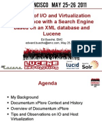 A Study of I/O and Virtualization Performance with a Search Engine based on an XML database and Lucene