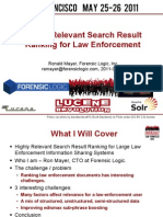 Highly Relevant Search Result Ranking for Large Law Enforcement Information Sharing Systems