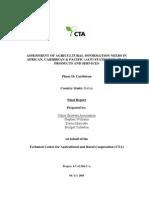 Belize - Assessment of Agricultural Information Needs