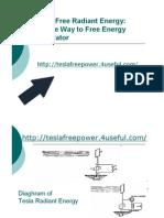 Tesla Free Radiant Energy