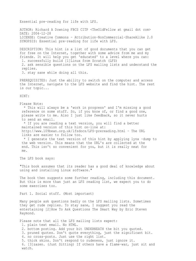 Essential Pre Reading | Linux Distribution | Command Line