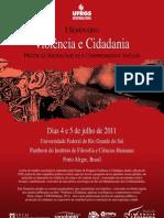 I Seminario Violência e Cidadania - Programação