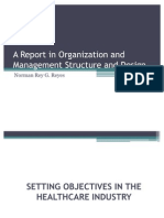 A Report in Organization and Management Structure And