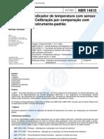 NBR 14610 - Indicador de Temperatura Com Sensor - Calibracao Por Comparacao Com Instrumento-padra