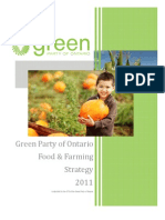 Food - Green Party Five Point Plan for Ontario