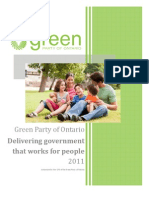Government Strategy - Green Party Five Point Plan for Ontario