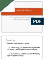 Bureaucratic Theory